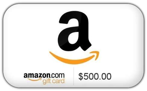 Win $500 Amazon Gift Card/Code - #Giveaway