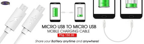 Micro USB mobile charging cable.