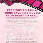 Precious Pelikula Turns Favorite Novels from Print to Reel
