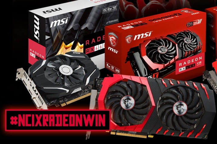 Win MSI Radeon RX460, RX470, or RX480 Video Card - #Giveaways