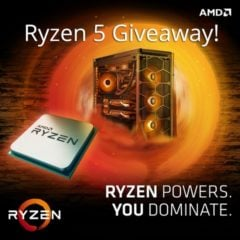 Win AMD Ryzen 5 1600 CPU - #Giveaway