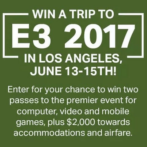 Win Trip To 2017 E3 in Los Angeles - #Giveaway (US)