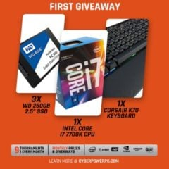 Win Intel Core i7 CPU, WD Blue 250GB SSD, Corsair K70 RGB Gaming Keyboard - #Giveaways