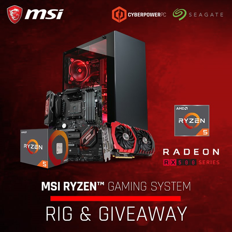 MSI Ryzen 5 Gaming PC - #Giveaway (US)