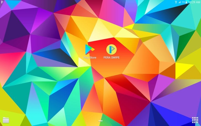 Pera Swipe: Home Screen - Google Play Store and Pera Swipe App Icon