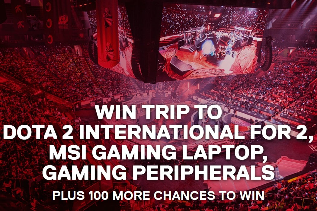 Win MSI Gaming Laptop, Dota 2 International Trip for 2, and Gaming Peripherals - #Giveaway (WW)