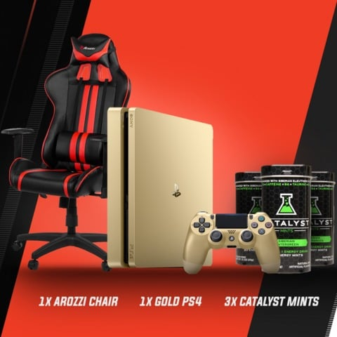 Win PS4 Gold Console and Arozzi Mezzo Gaming Chair - #Giveaway (WW)