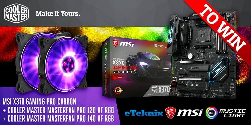 Win MSI X370 Gaming Pro Carbon MoBo, CM MasterFan Pro 120 and 140 - #Giveaways (WW)