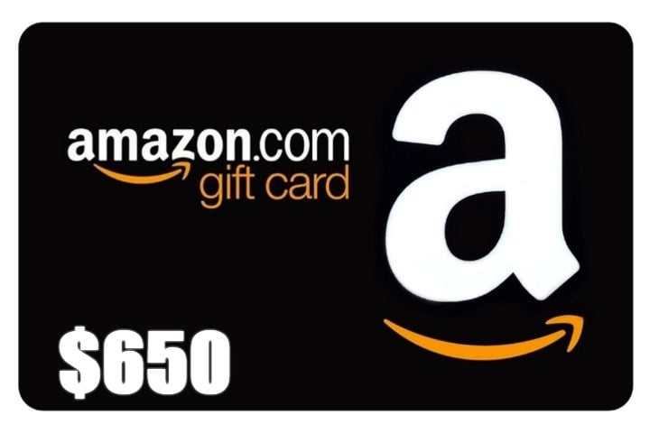 Win $650 Amazon Gift Card - #Giveaway (WW)