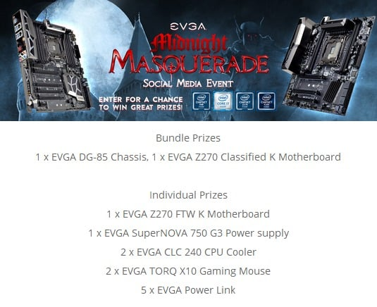 Win EVGA Midnight Masquerade Gaming - #Giveaway (WW)