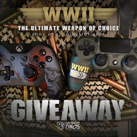 Win WWII Custom XBOX One or PS4 Controller - #Giveaway (WW)