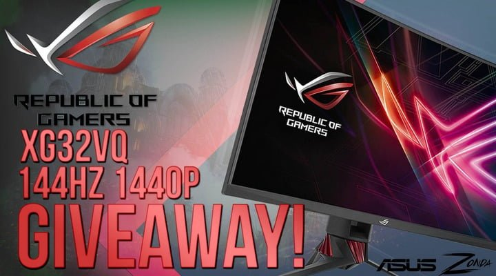 Win ASUS ROG XG32VQ Curve Gaming Monitor #Giveaway (WW)