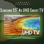 Win Samsung 55inch 4K UHD Smart TV #Giveaway (WW)