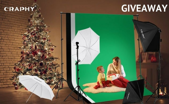 Win CRAPHY Photo Studio Lighting Kit #Giveaway (WW)