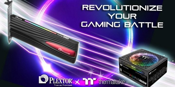 Win Plextor M9PeY NVMe PCIe SSD 256GB and Thermaltake Toughpower iRGB PLUS 850W PSU #Giveaway (WW)
