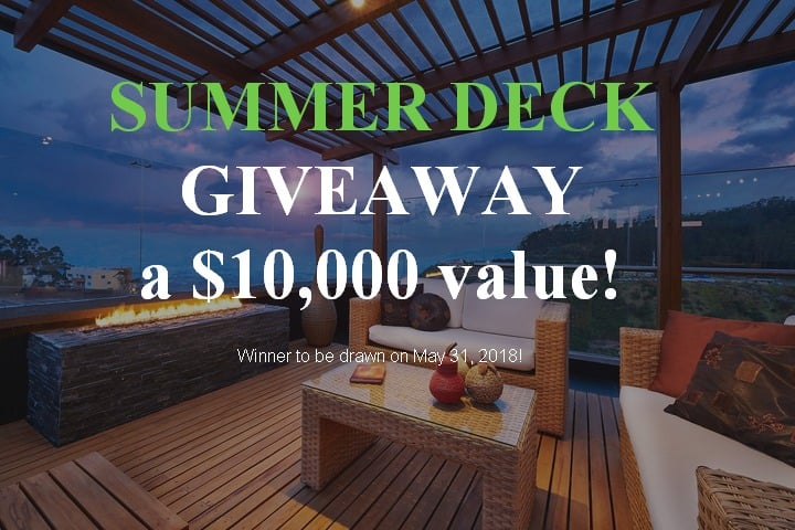 Win Custom Wooden Deck Pressure Giveaway (CA)