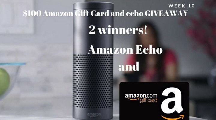 Win One of Two Amazon Echo and $100 Amazon Gift Card #Giveaway (WW)