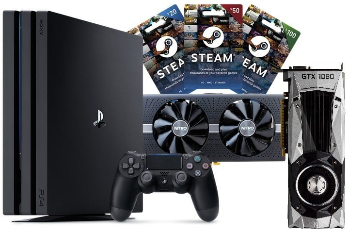 Win GeForce GTX 1060 or RX 580 8GB or PS4 Pro or $300 Steam Gift Card #Giveaways (WW)