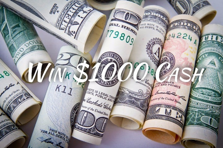 Win $1000 Cash #Giveaway
