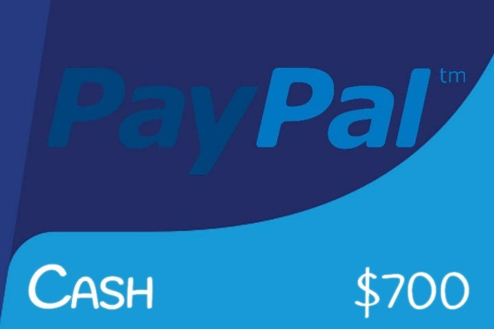 Win $700 Paypal Cash #Giveaway