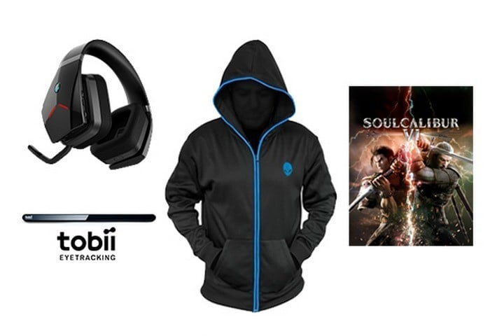 Alienware Wireless Headset, Jacket, Tobii 4C, and SoulCalibur VI Steam Key