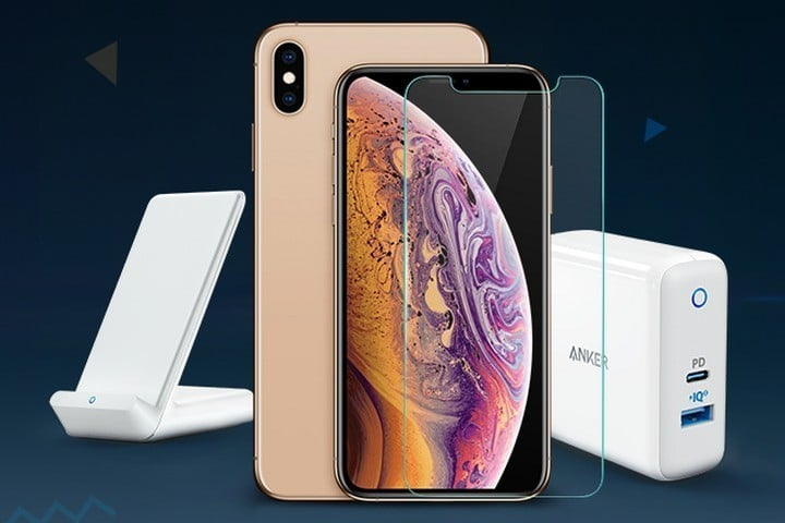 iPhone XS Smartphone with Anker Accessories