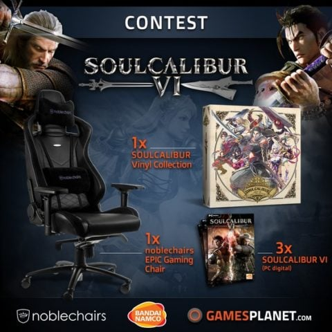 NobleChairs EPIC Gaming Chair and SOULCALIBUR VI Game