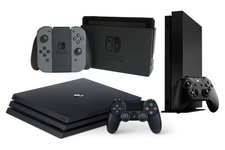 Playstation 4 Pro, XBOX One X, or Nintendo Switch