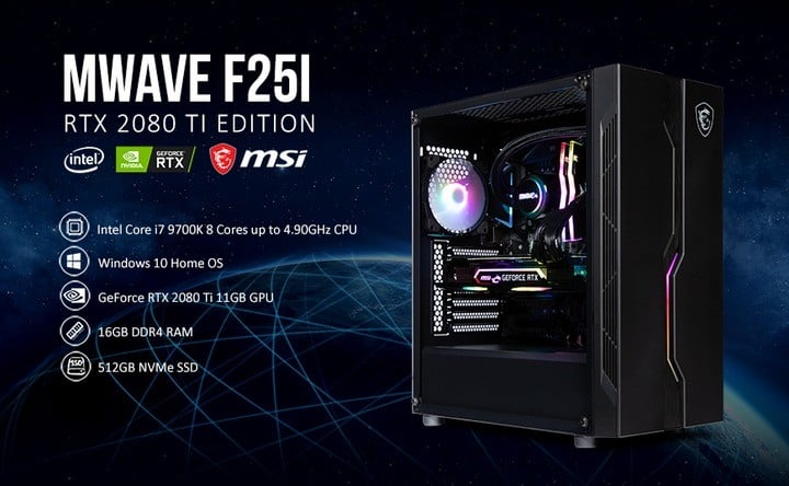 MWAVE F25i or MWAVE F22i Gaming PC